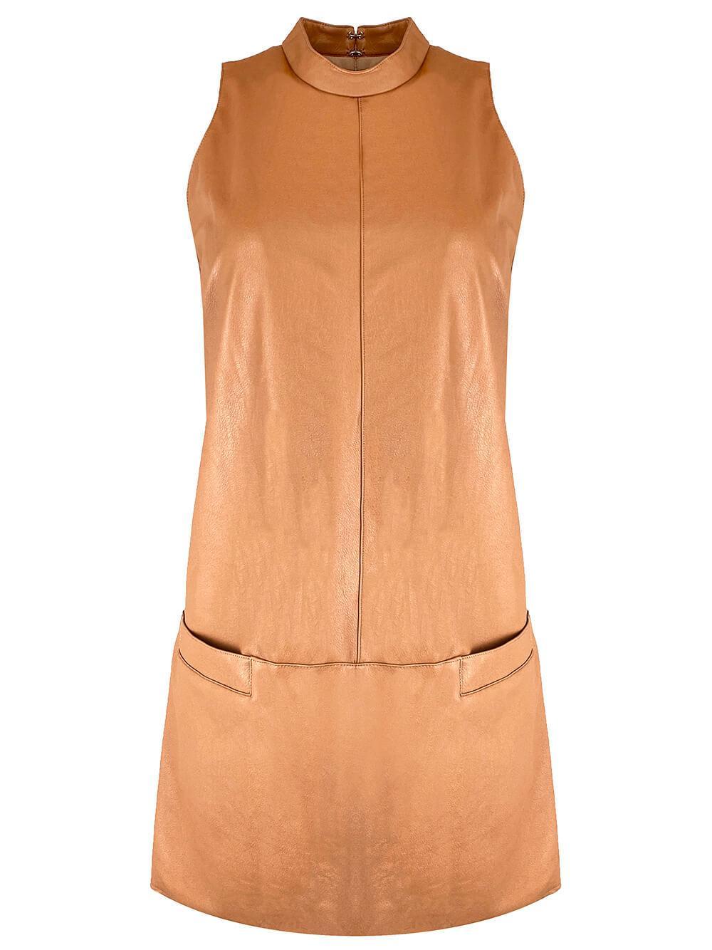 Mayer Faux Leather Dress Item # SL-20949