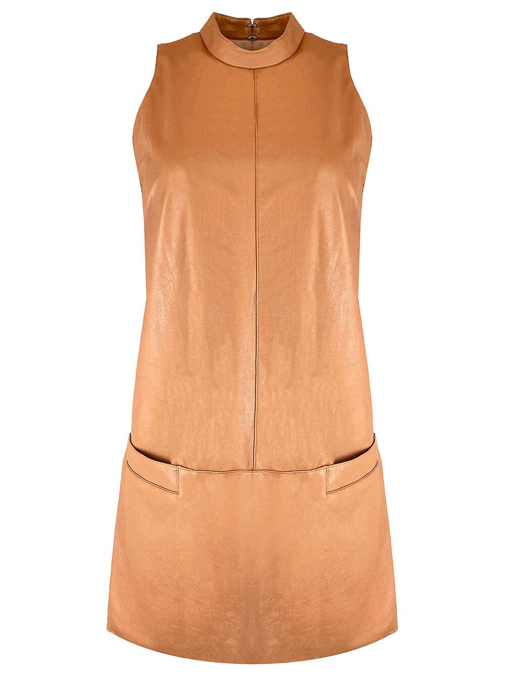 Mayer Faux Leather Dress