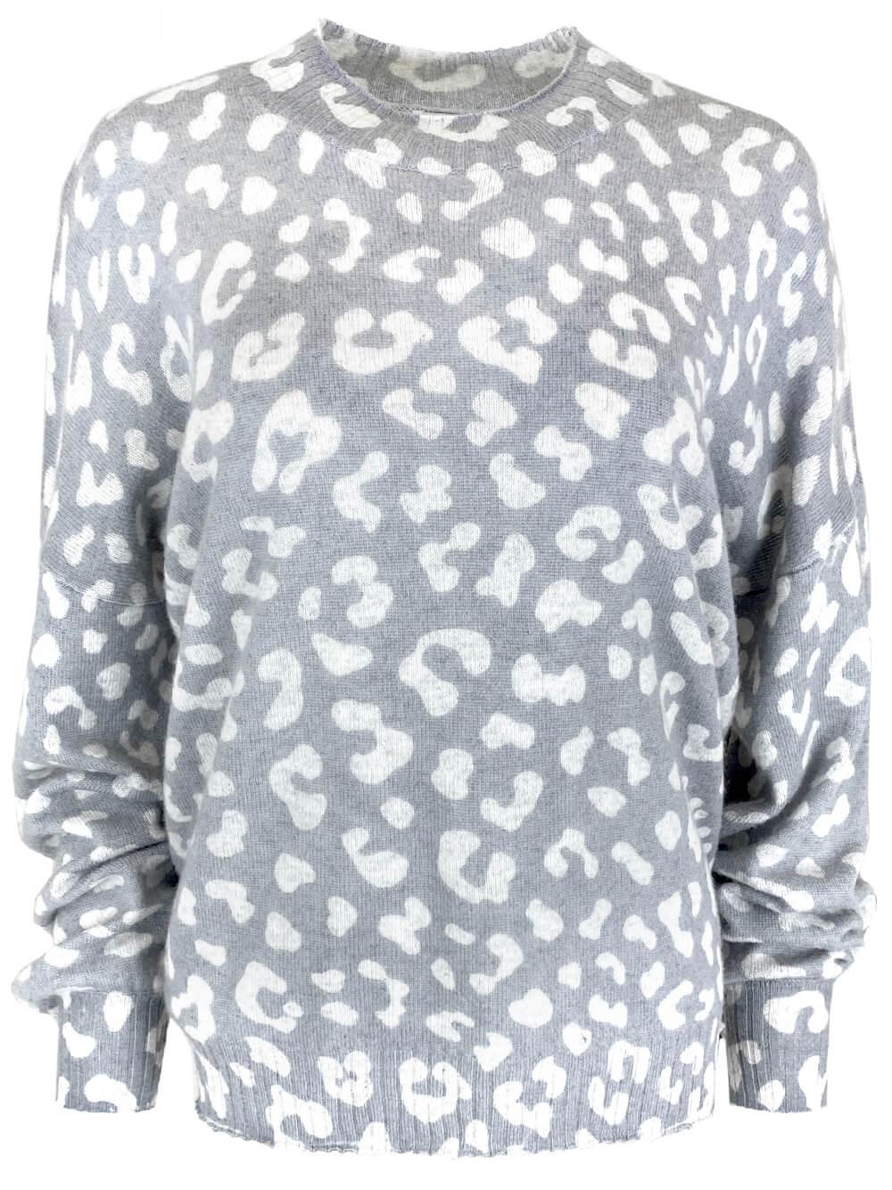 Johnnie Leopard Sweater Item # JOHNNIE
