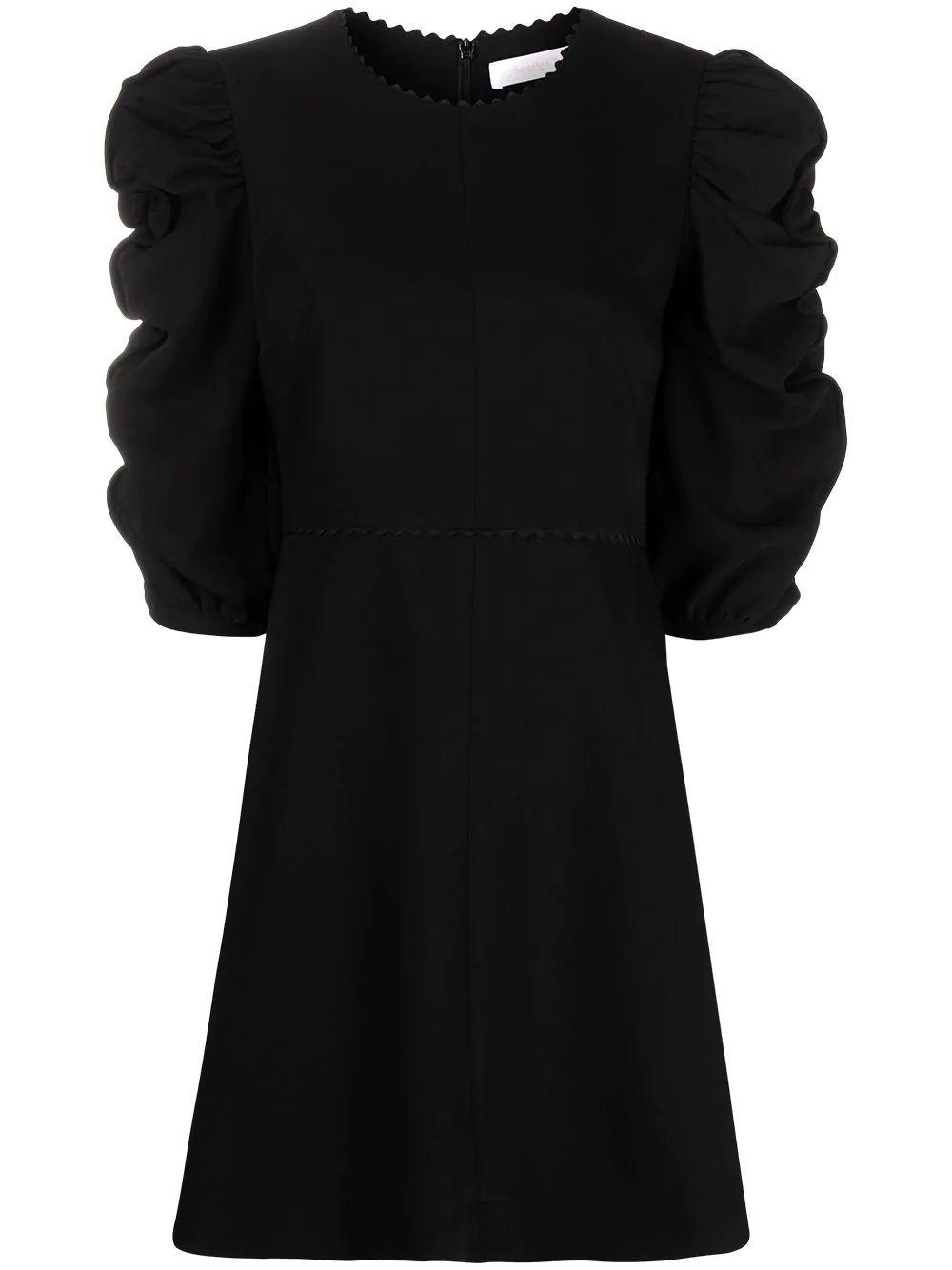 Ruched Sleeve Dress Item # CHS21SRO02012