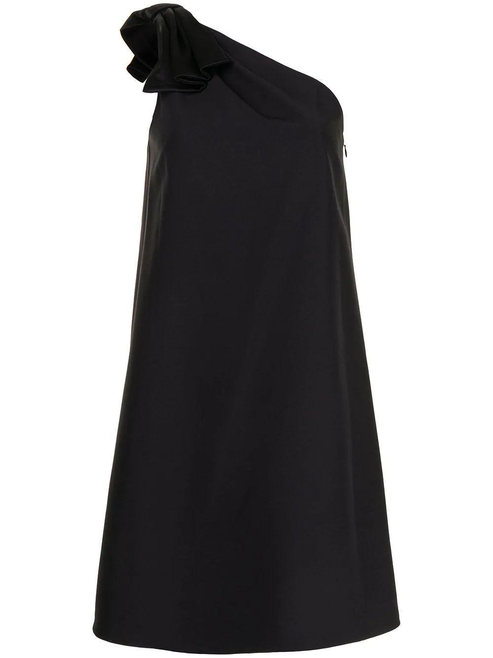 One Shoulder Trapeze Dress Item # MD1E205677