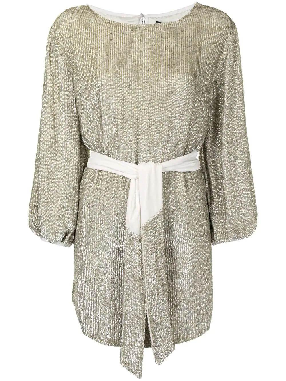 Grace Belted Sequin Dress