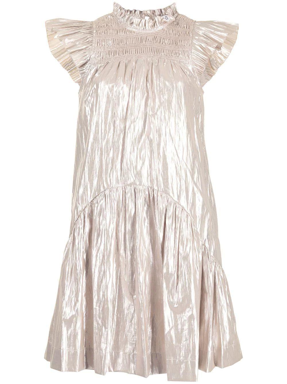 Lumier Flutter Sleeve Dress