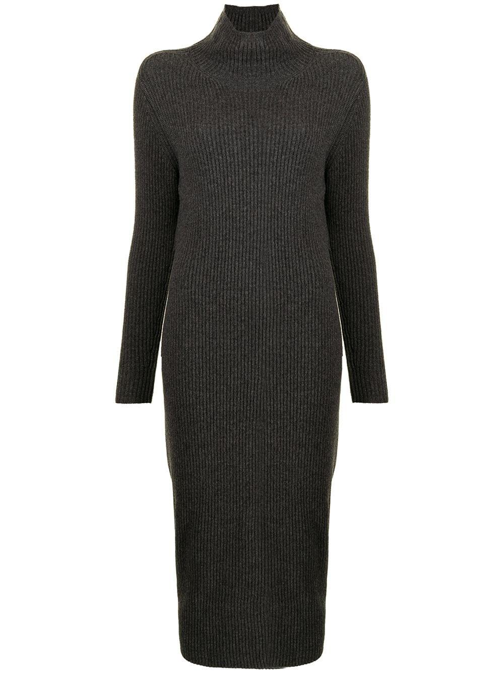 Rib Knit Midi Dress Item # 211816275001