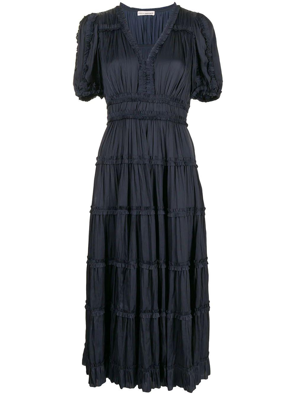 Olivia Puff Sleeve Midi Dress