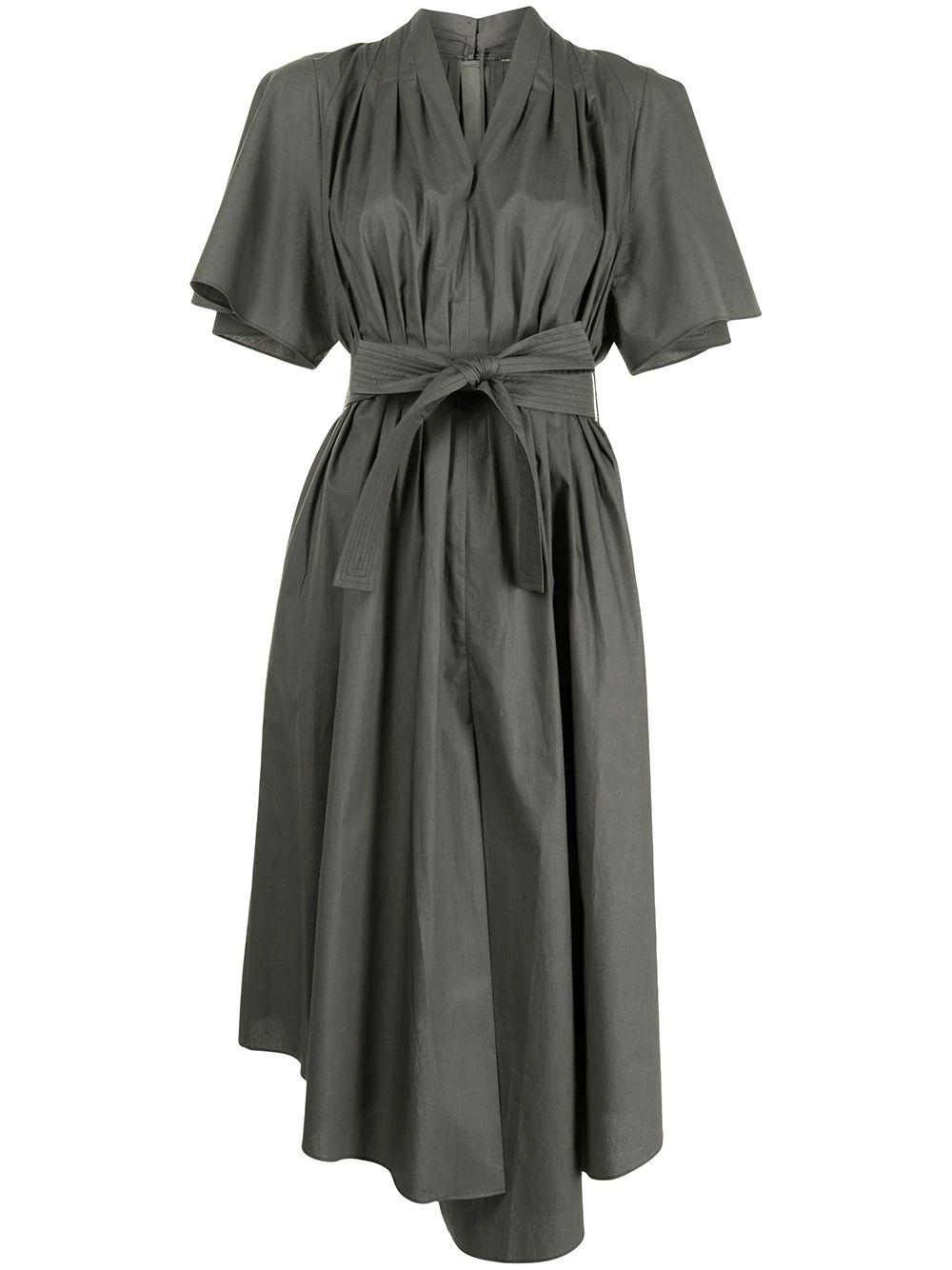 Asymmetrical Shirt Dress Item # R21711CS