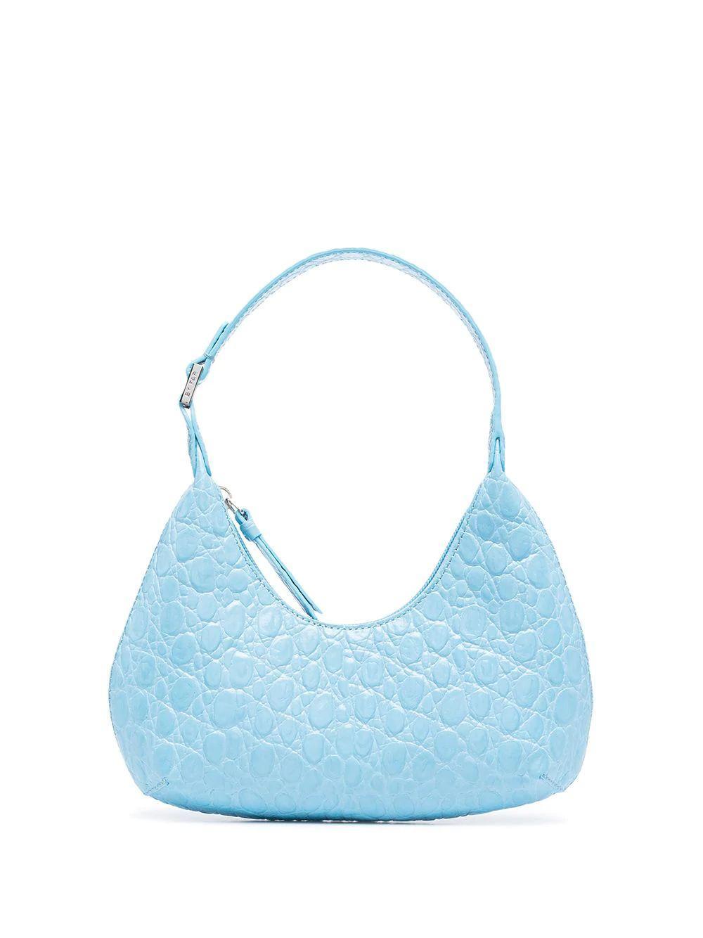 Baby Amber Croco Bag Item # 21CRBASLGNDSMA