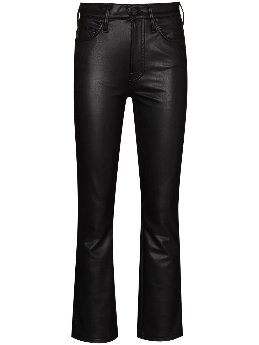 The Insider Cropped Faux- Leather Pant Item # 1327-771-FXS