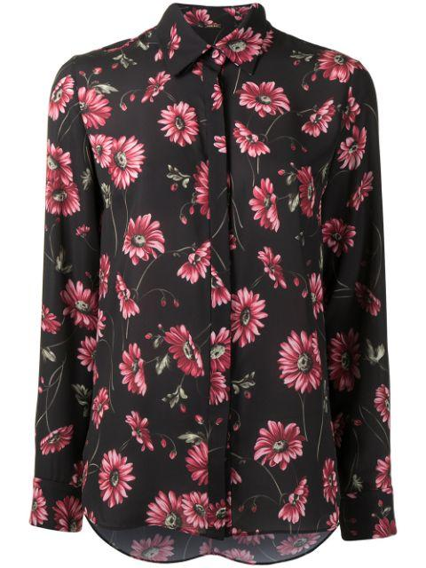 Floral Print Blouse Item # R21115PB