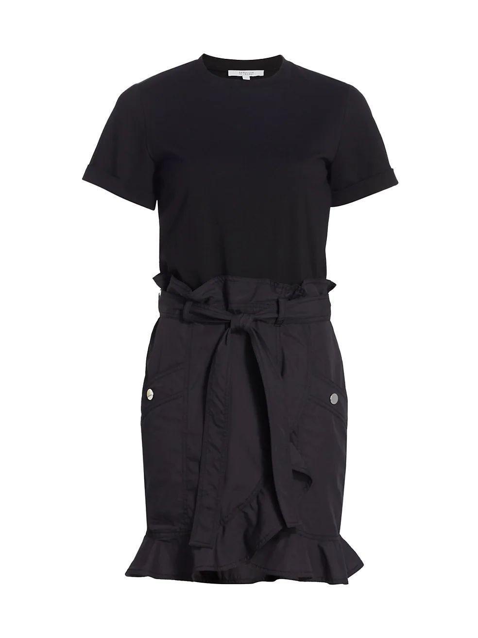 Hudson Mixed Media T-Shirt Dress