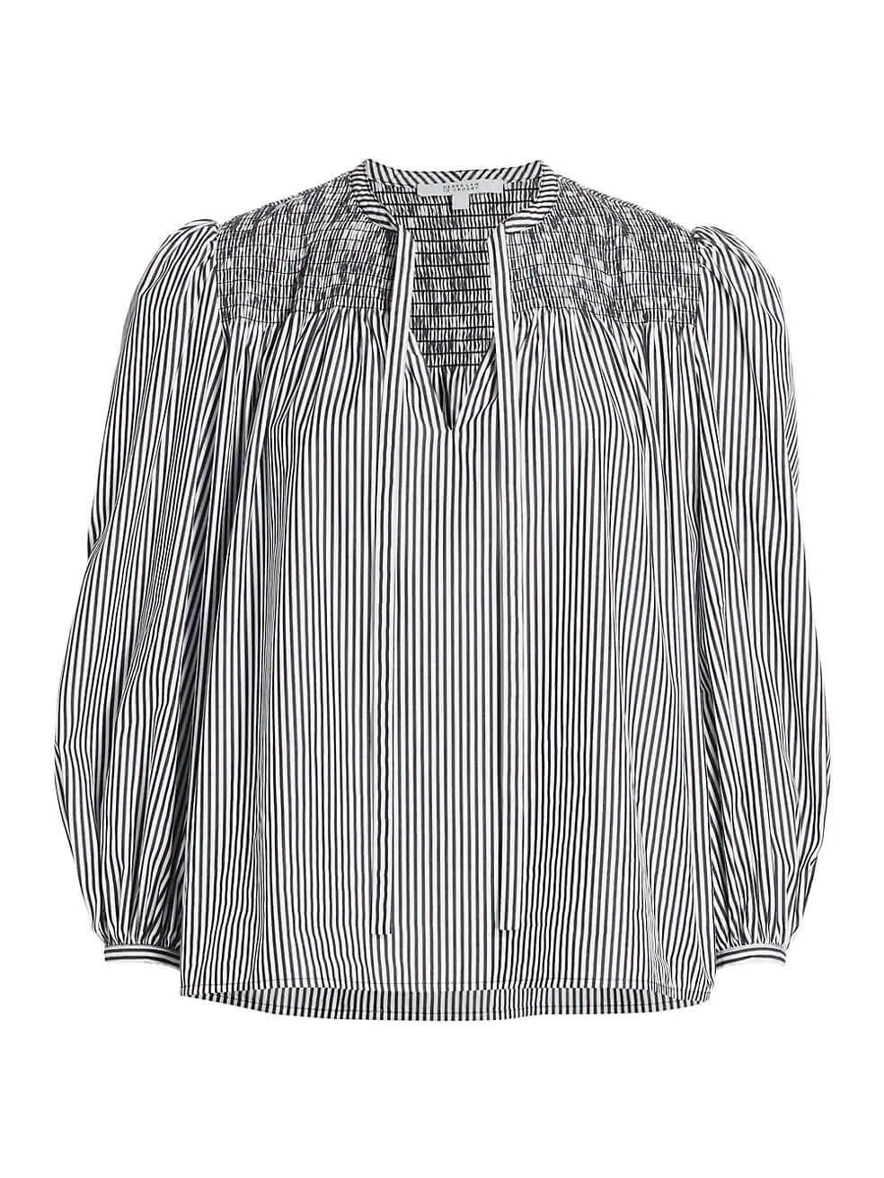 Austin Smocked Blouse With Ties
