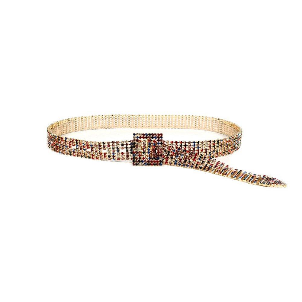 Dylan Rainbow Crystal Belt