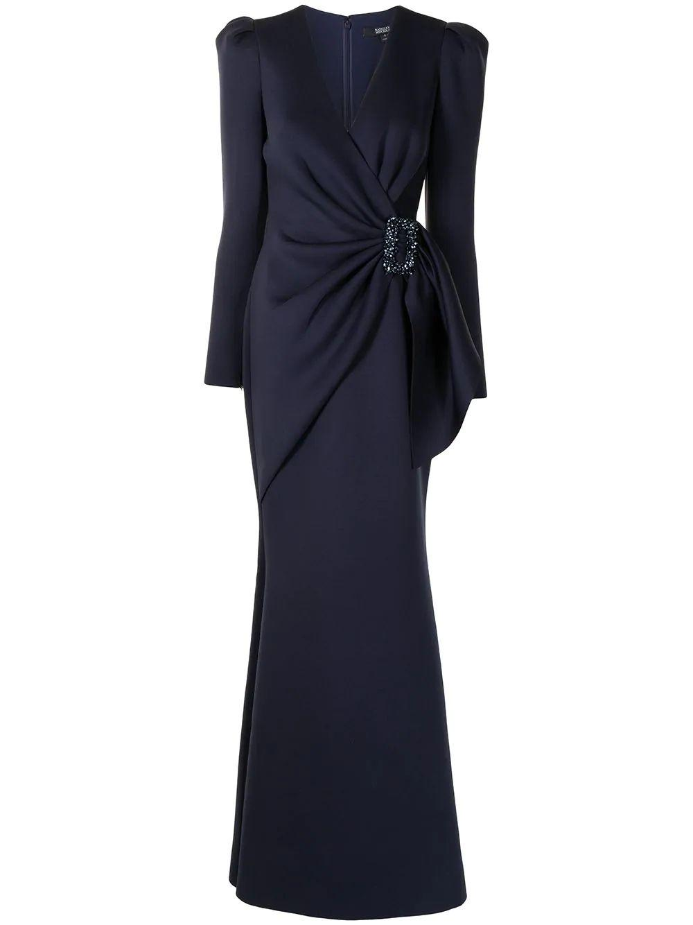 Belted-Waist Gown