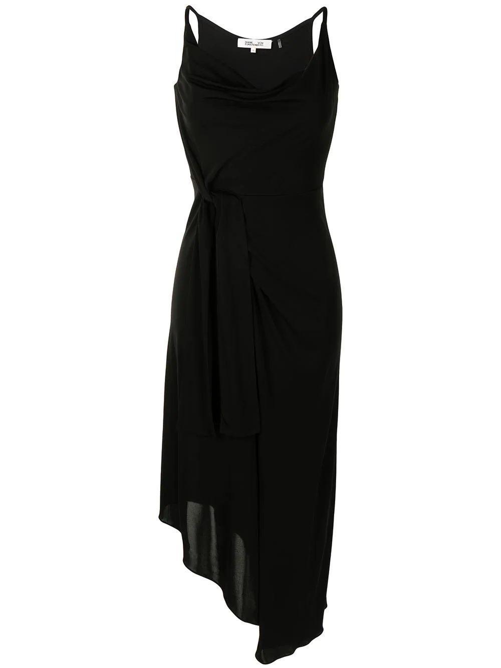 Amy Faux Wrap Midi Dress Item # DS4O011