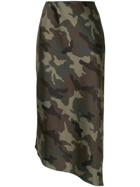 Maeve Camo Slip Skirt