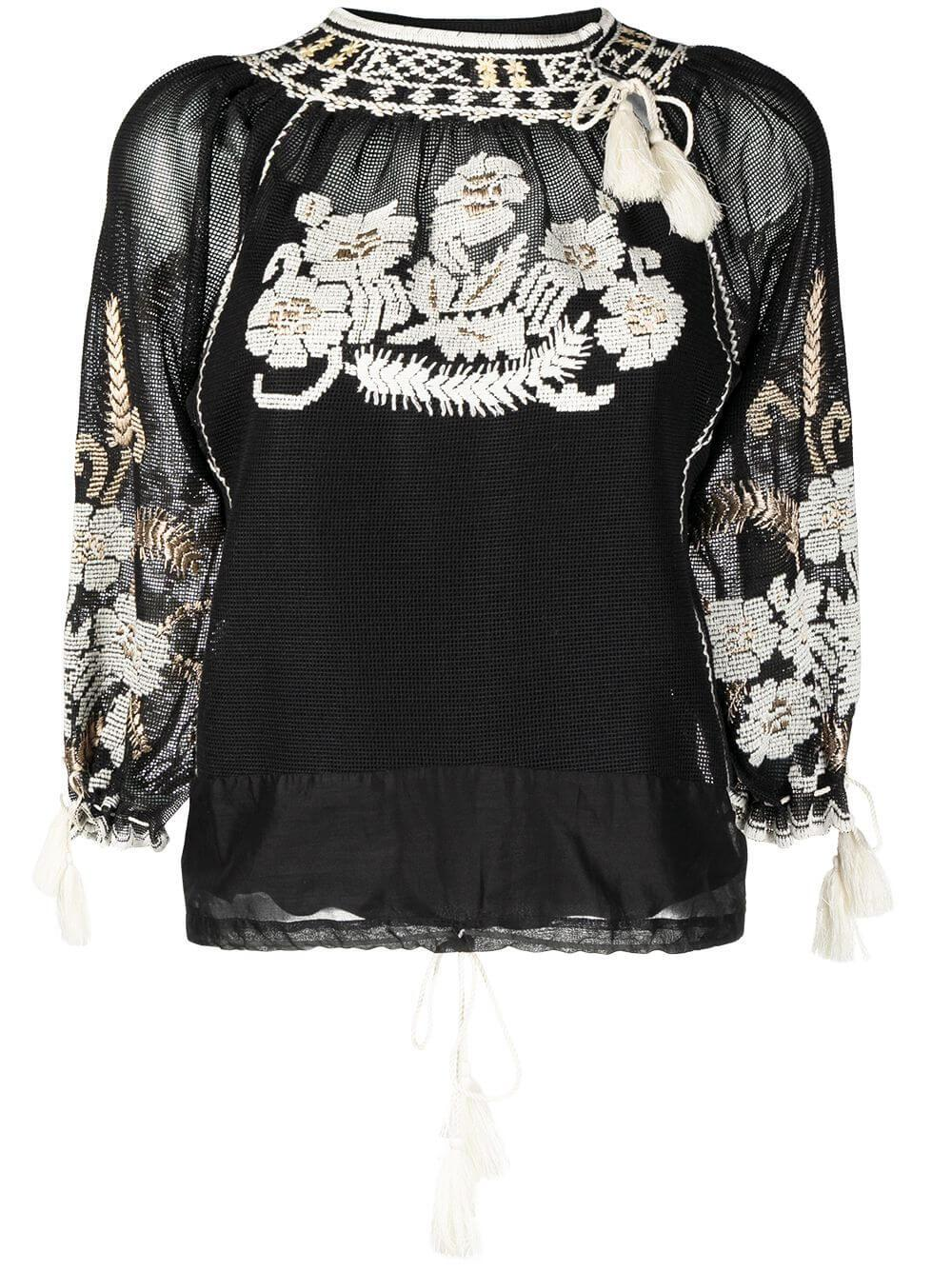 Floral Embroidered Top Item # VR3AB03M5QG