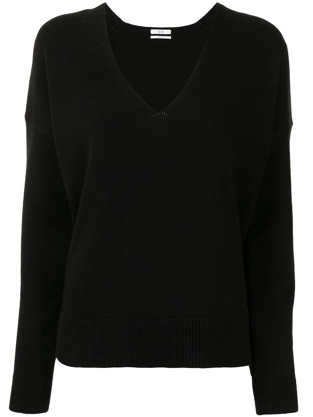 V- Neck Side Vent Sweater Item # 8353WCM-ESSN