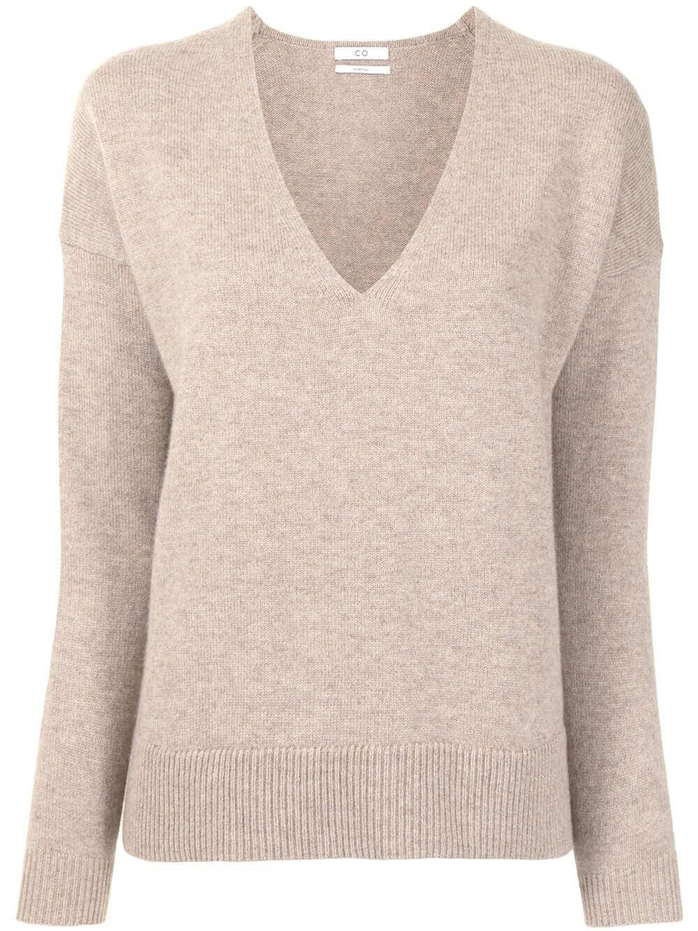 V-Neck Side Vent Sweater
