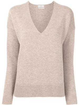 V-Neck Side Vent Sweater