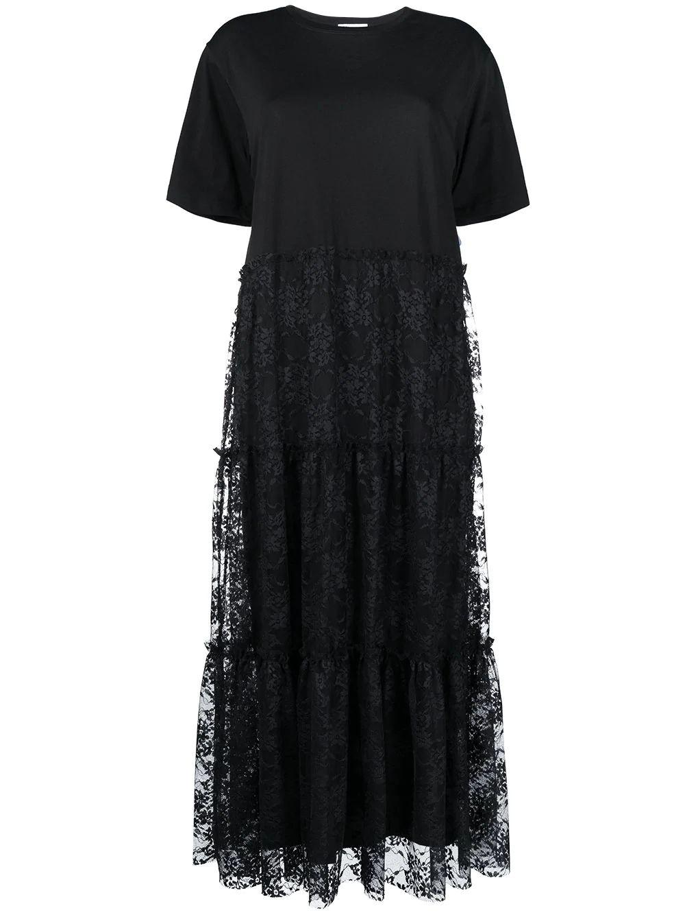 Lace T-Shirt Maxi Dress