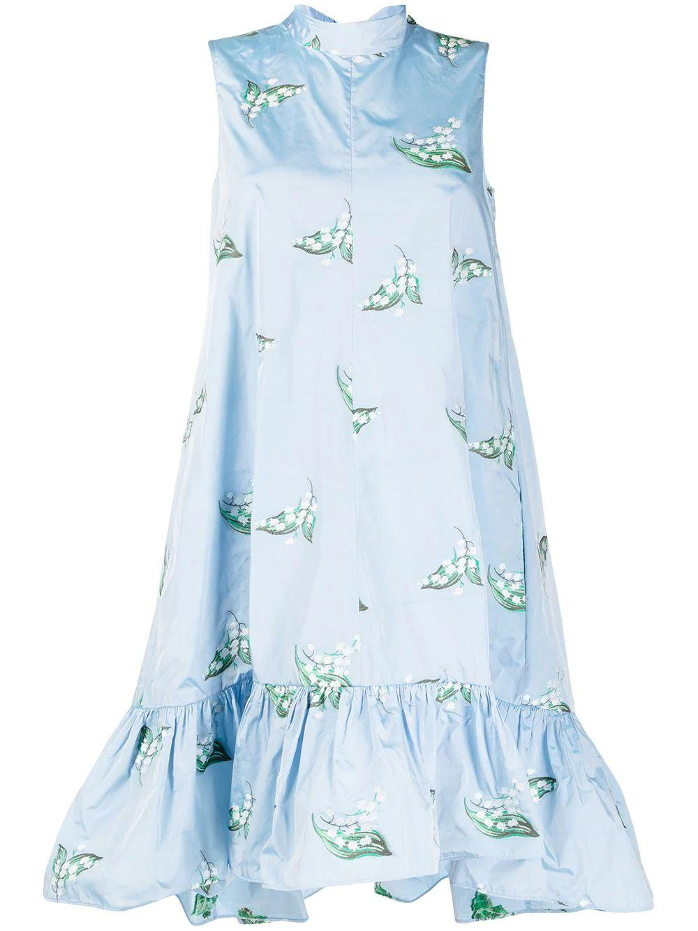 May Lily-Motif Day Dress