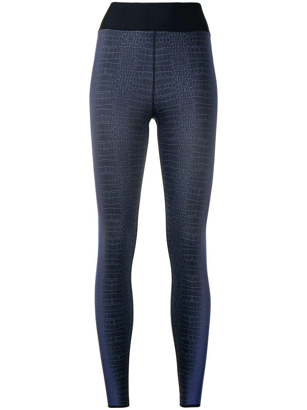 Croco- Print Leggings Item # A520SE302SLKN-H