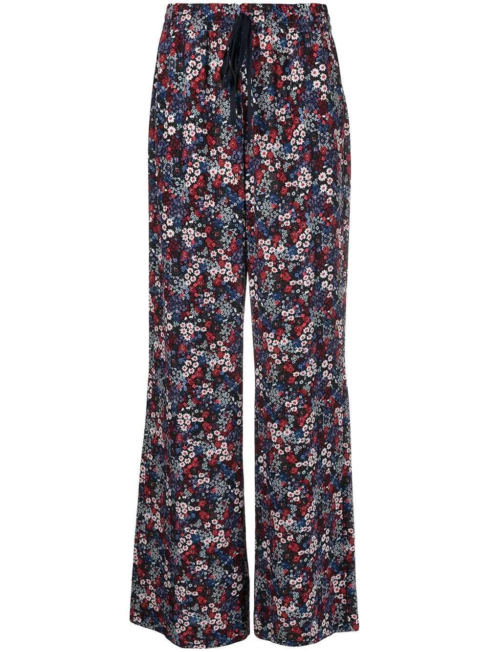 Floral Print Wide Leg Pants