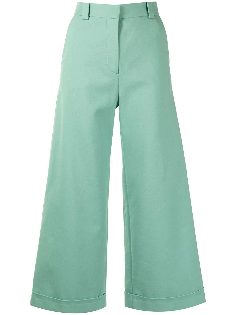 Cropped Wide Leg Pant Item # CHS21SPA01028