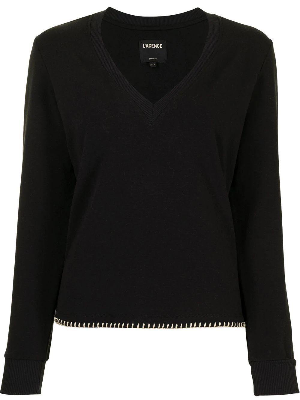 Helena V- Neck Sweatshirt Item # 8618FTNE