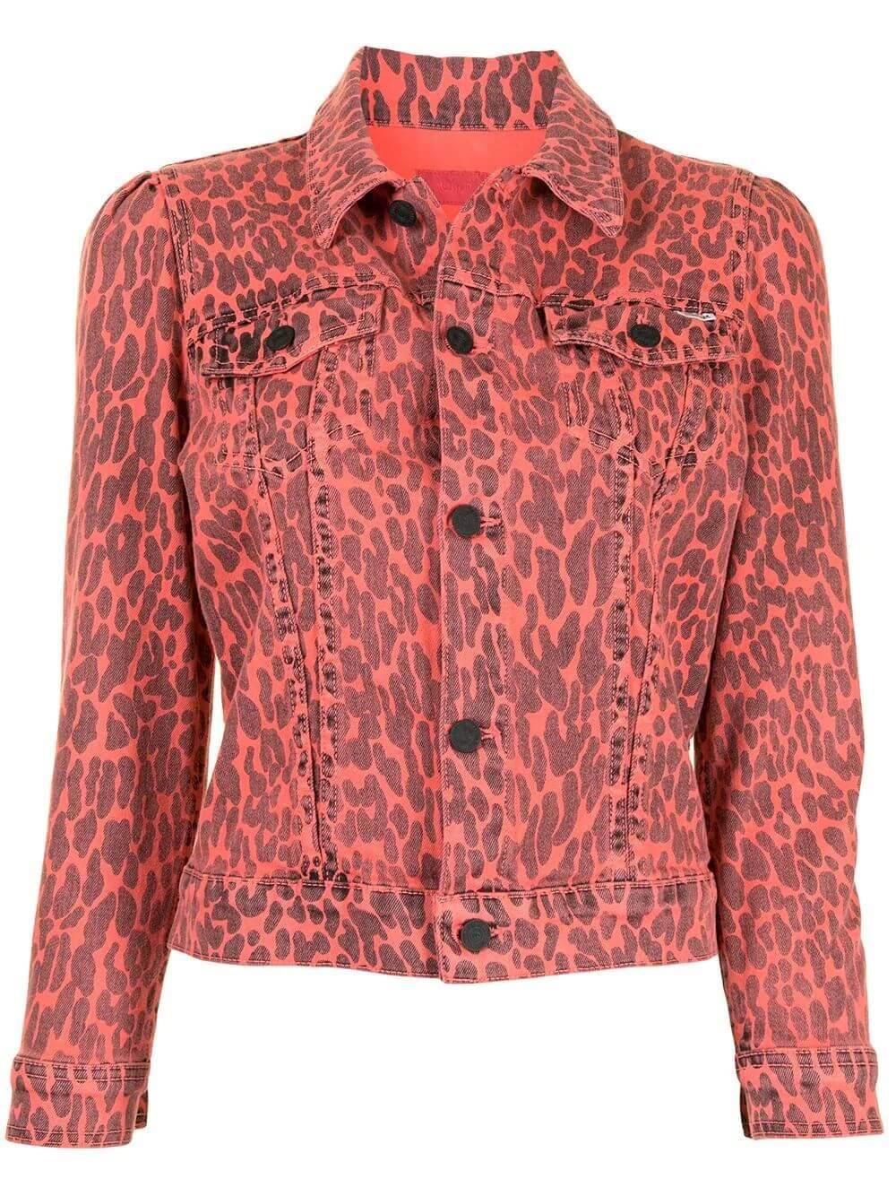 The Puffy Bruiser Leopard Denim Jacket Item # 30031-900