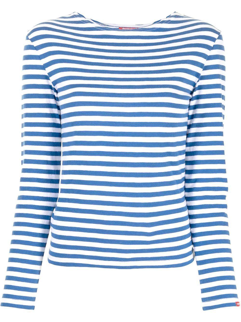 Striped Long Sleeve Tee Item # DSW4271-L04A