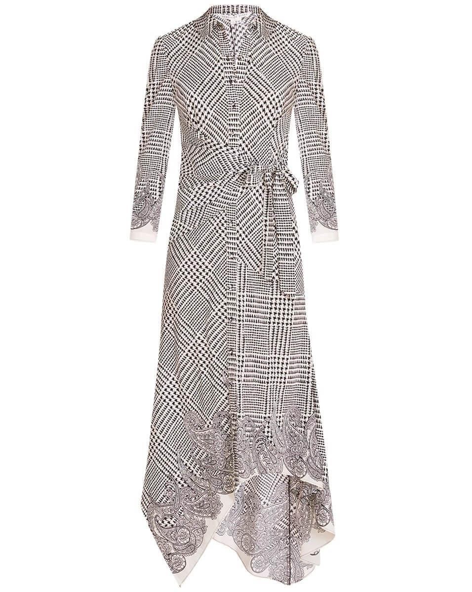 Ondine Houndstooth Wrap Dress