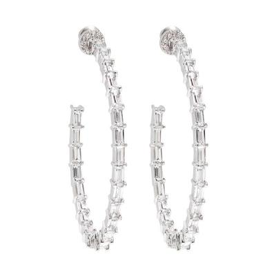 Infinity Baguette Hoop Earrings