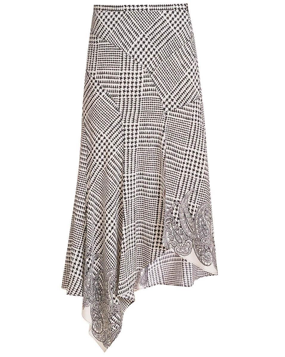 Mac Houndstooth Midi Skirt