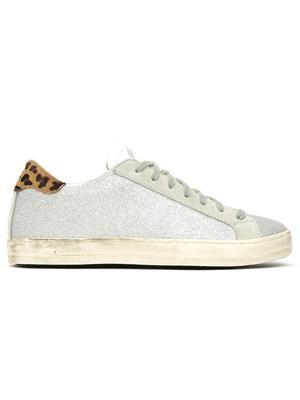 John Glitter Sneaker With Leopard Heel