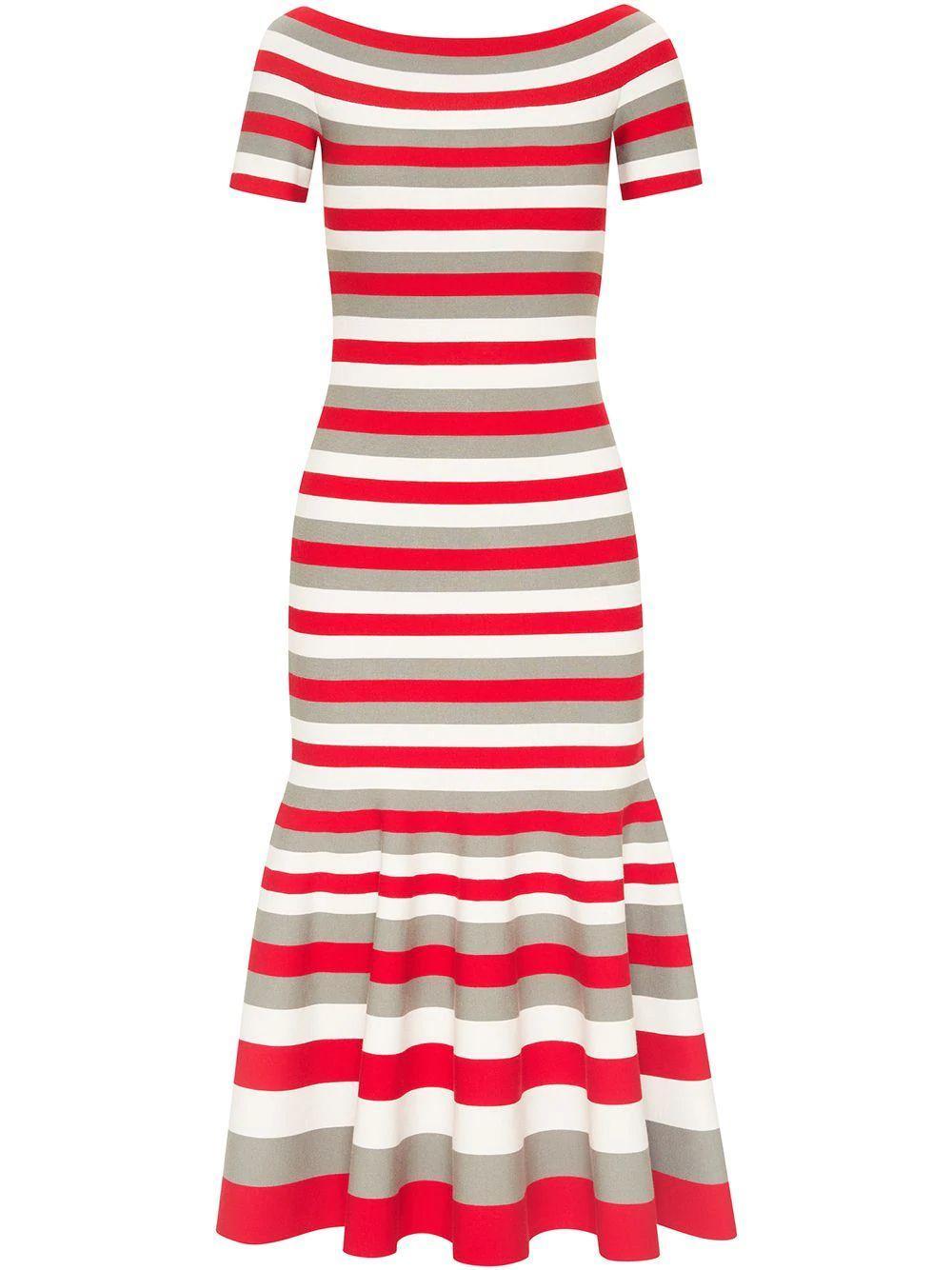 Striped Knit Midi Dress Item # 21RN115SJQ