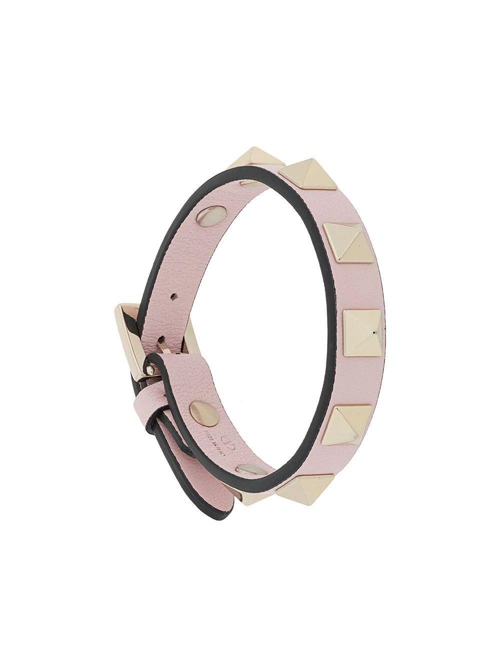 Rockstud Buckle Bracelet Item # VW2J0255VIT