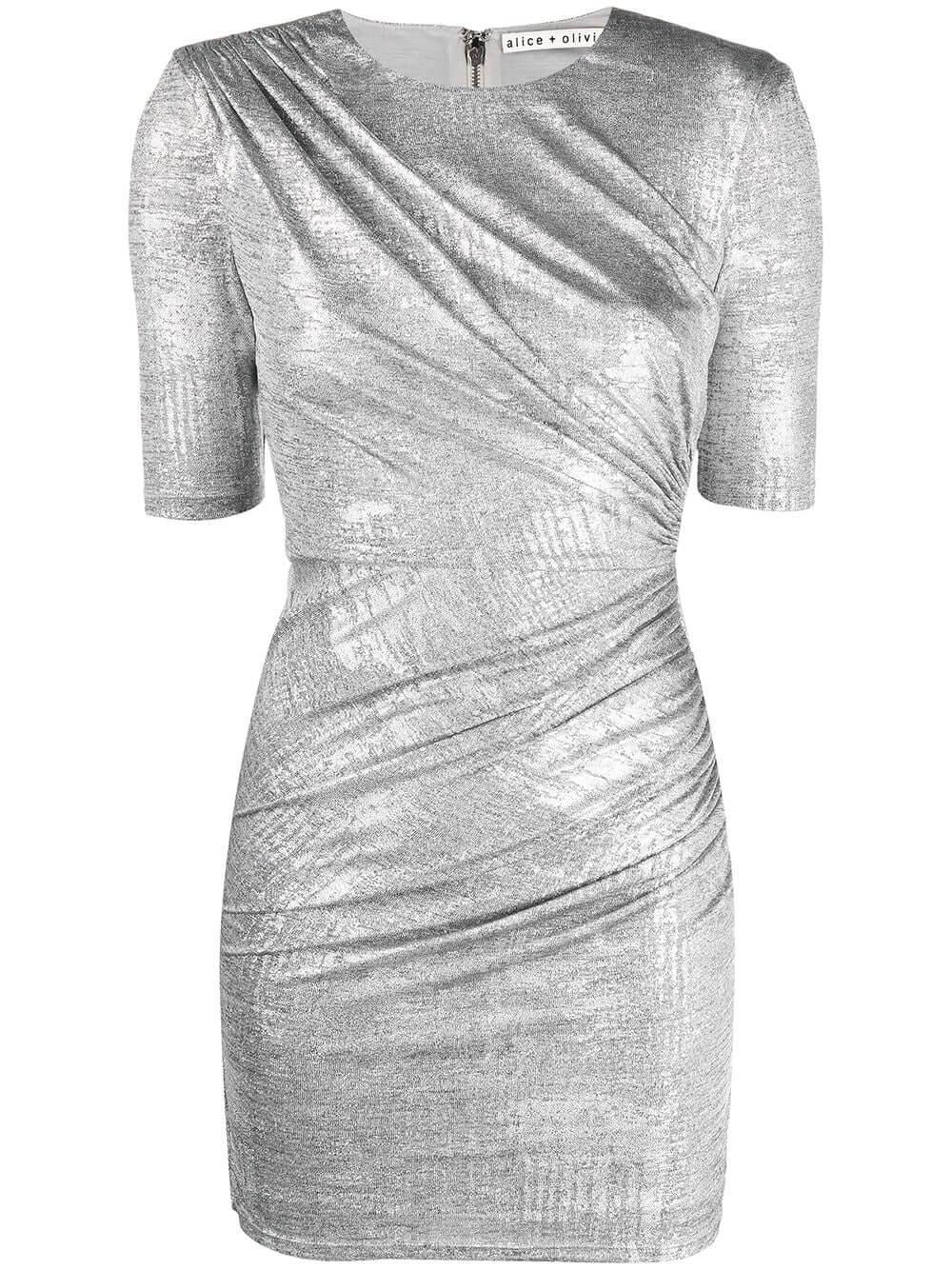 Delora Ruched Dress Item # CC011M08518-C