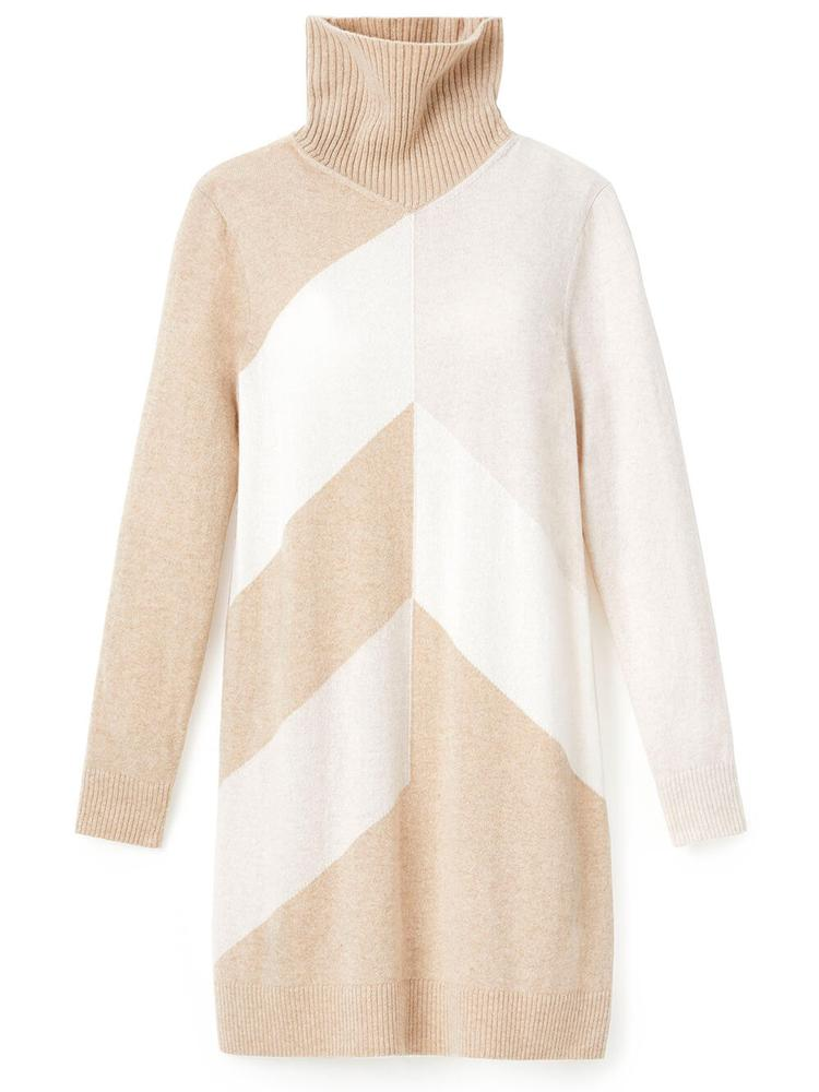 Double Knit Chevron Turtleneck