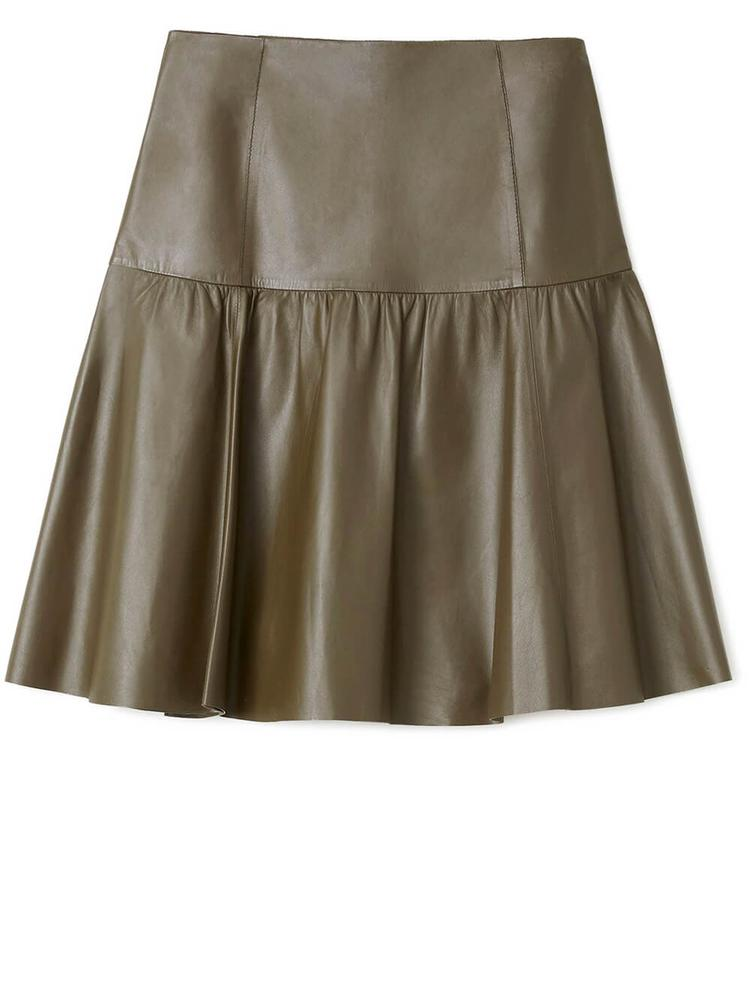 Fran Leather Skirt Item # MSN23R-L427