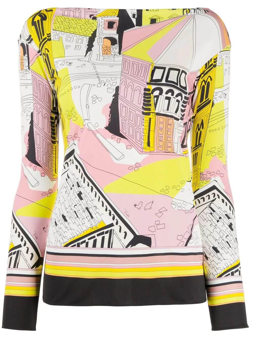 Battistero Print Top