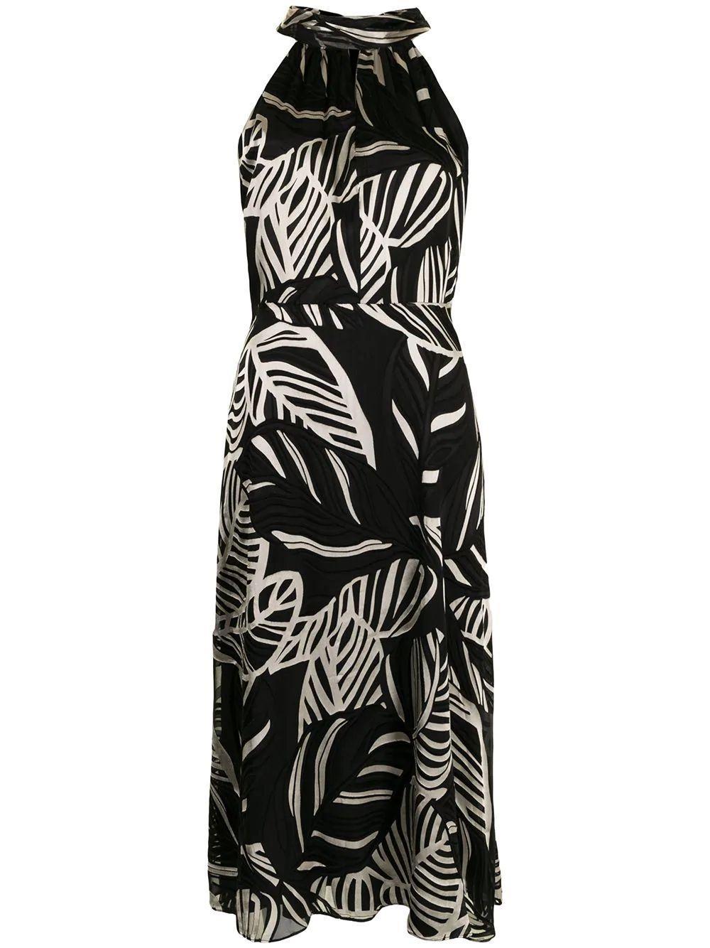 Adrian Palm Midi Dress