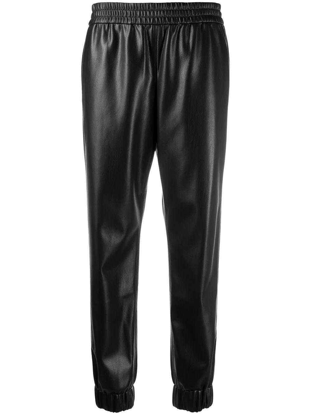 Pete Elastic Waist Vegan Leather Pants