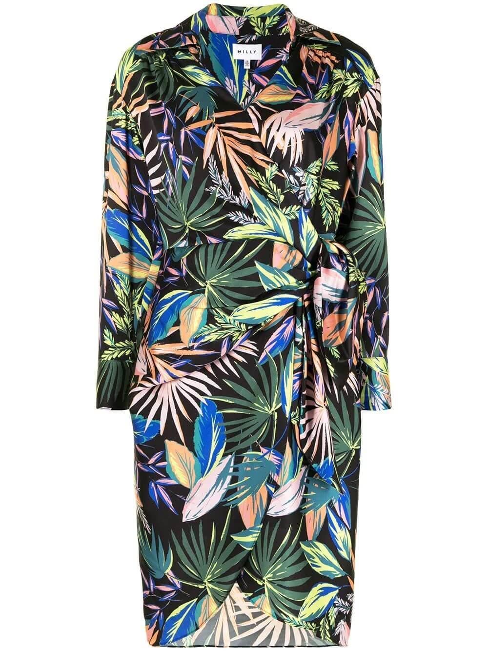 Jordan Tropical Palm Print Dress Item # 22JD16