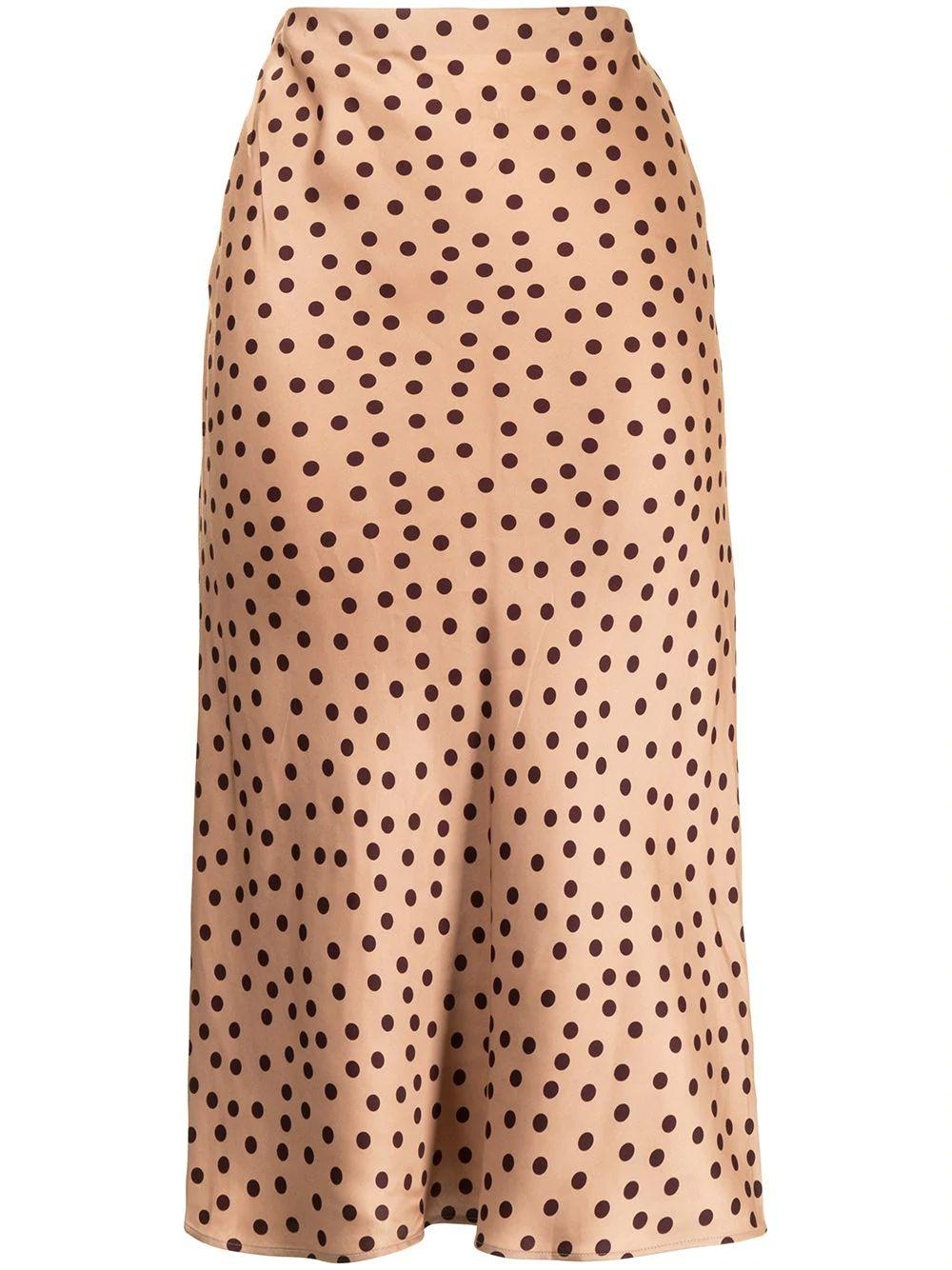 Perin Bias Dotted Midi Skirt