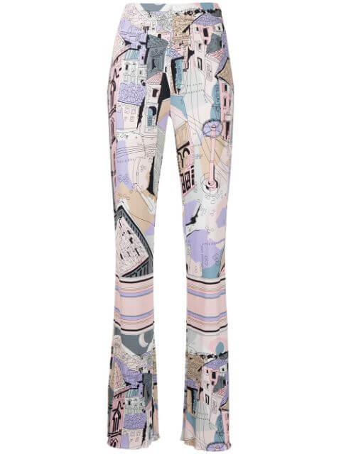 Battistero Printed Pants