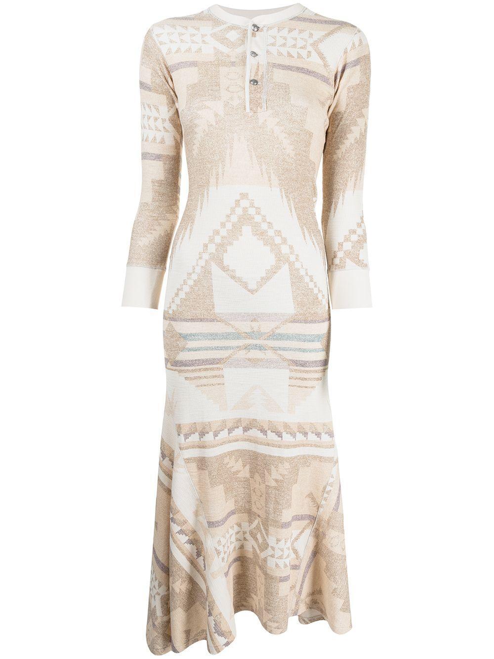 Southwestern Henley Dress