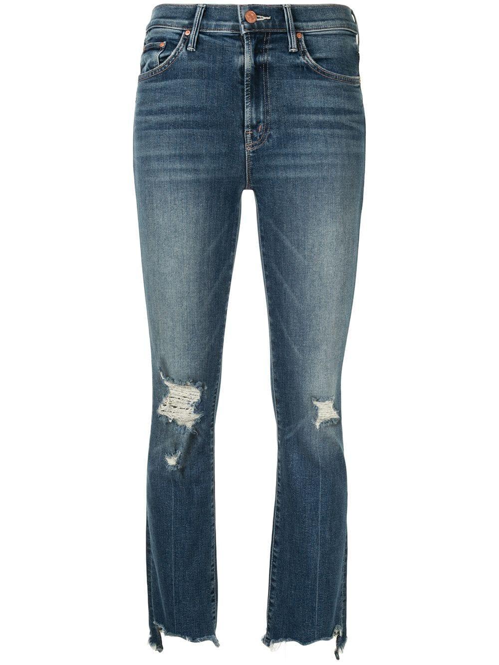 Insider Crop Step Chew Hem Jeans Item # 1417-104-DOC