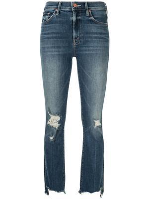 Insider Crop Step Chew Hem Jeans