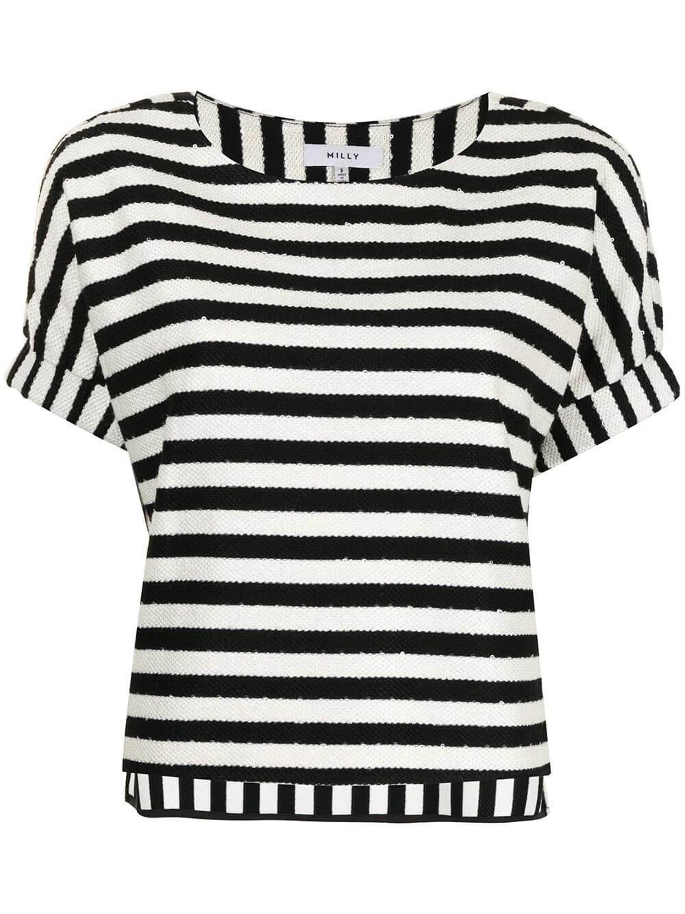 Julie Striped Sequin Tee